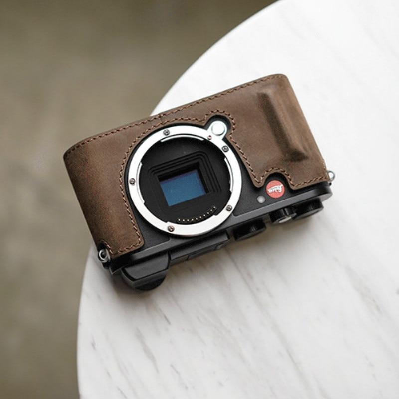 Mr.stone Brand Genuine Leather Handmade Camera Case Bag For Leica CL Half Body Bottom Cover