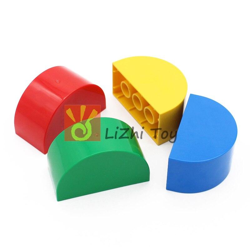 Moc diy bloco de construção 31213 duplo tijolo 2x4x2 curvado superior tijolos montado acessórios parte a granel compatível com duplo brinquedos