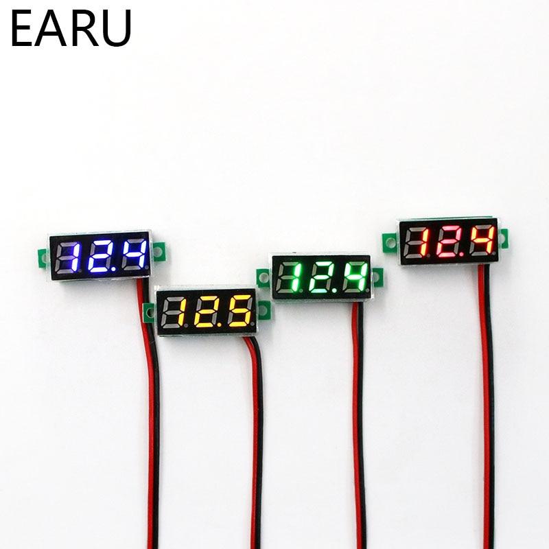 Mini Digital Voltmeter Voltage Tester Meter 0.28 Inch 2.5V-30V LED Screen Electronic Parts Accessori
