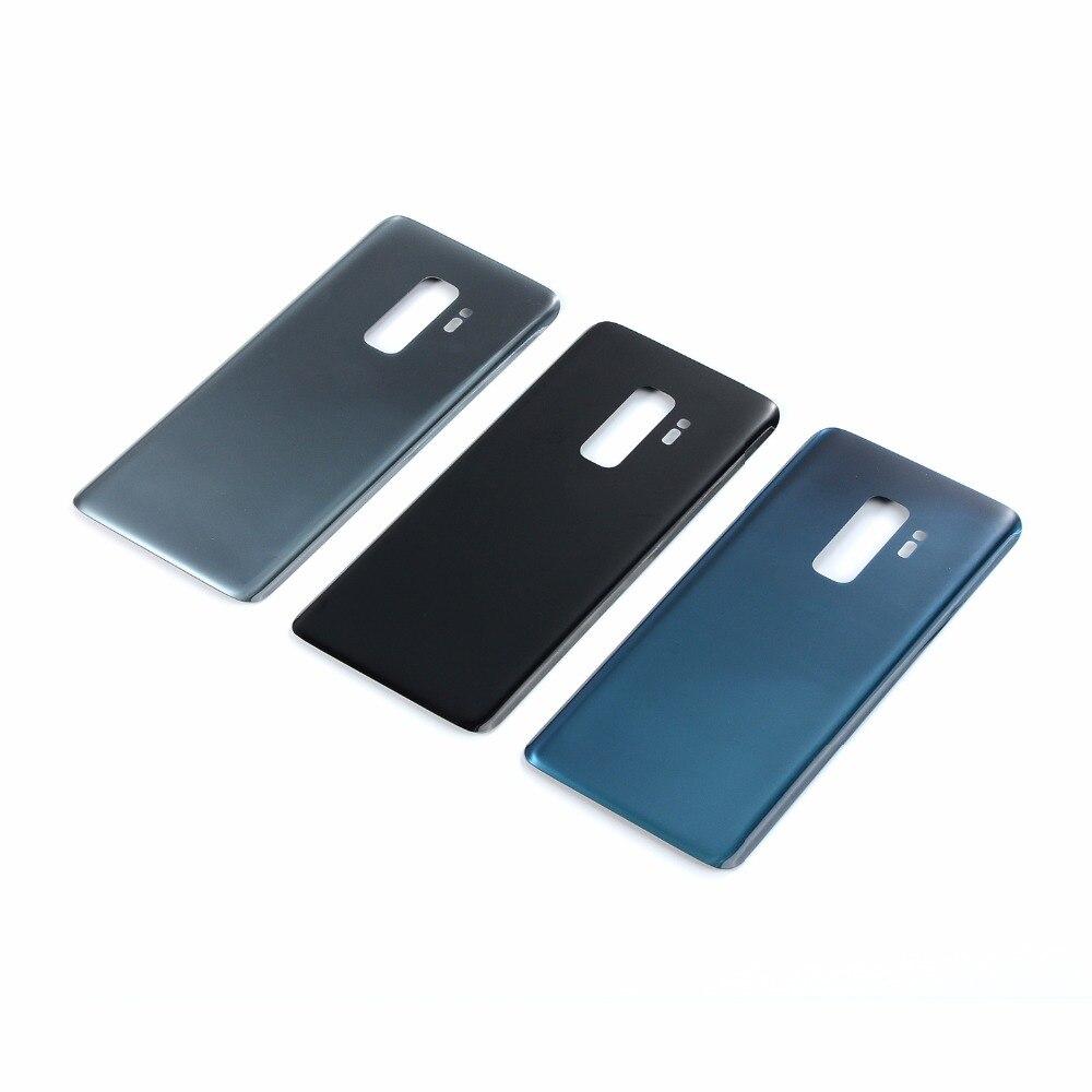 Para Samsung Galaxy S9 G960 G960F S9 + S9 Plus G965 G965F, cubierta trasera de cristal con batería y adhesivo