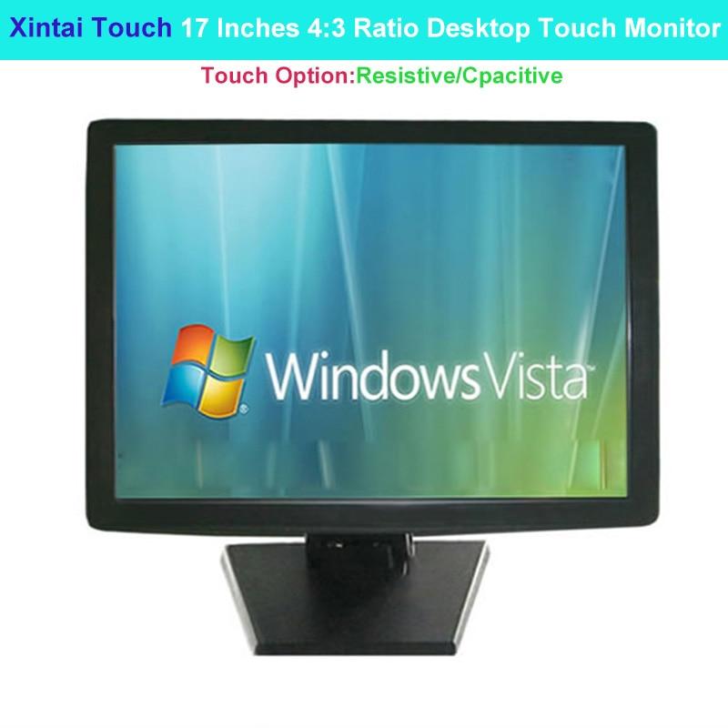 Xintai Touch 17 pulgadas 43 Ratio Monitor táctil de escritorio 5 cables resolución de pantalla táctil resistiva (1280*800/ 128*720)