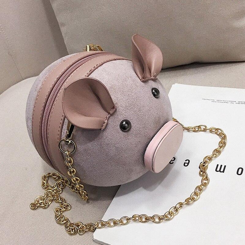 Women Shoulder Bags Cute Pig Crossbody High Quality PU Leather Bags For Girls Women Messenger Bags Fashion Printing Mujer bolsas