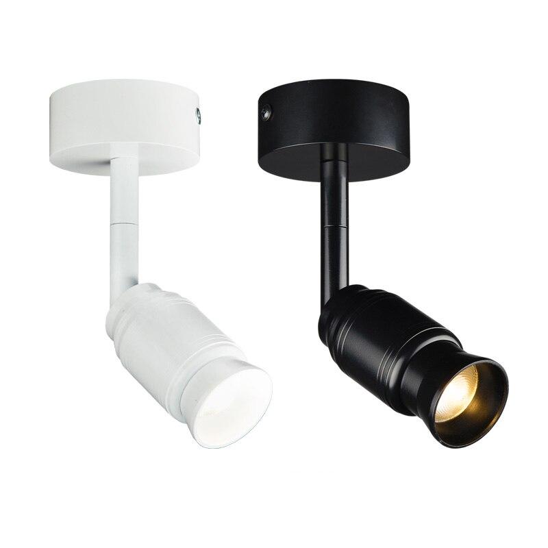 5 w/10 w LEVOU COB Teto Holofotes Imagem Zoom Com Foco Feixe de Luz-Ângulo Ajustável Da Lâmpada Sala de estar black/White shell
