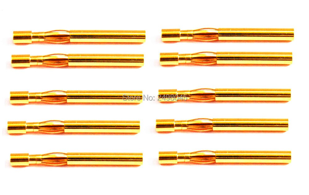 10 pares 2,0mm cobre bala conectores enchufe Banana macho + hembra para RC ESC batería parte