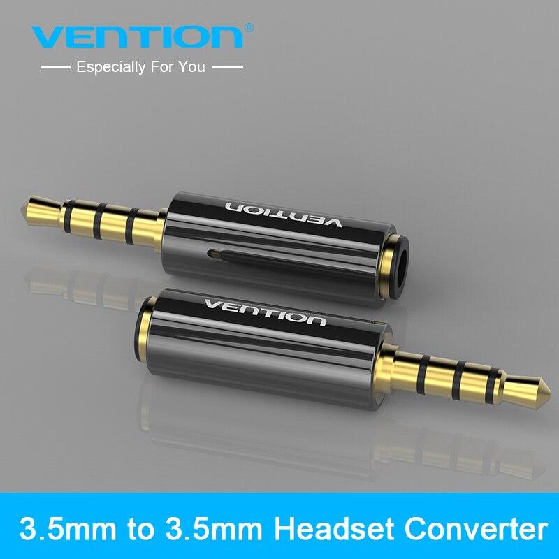 Vention 4 pole 3,5 мм до 3,5 мм RCA аудио Позолоченные коннекторы для наушников jack адаптер штекер jack стерео гарнитура