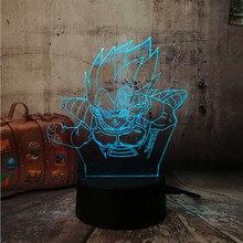 Japan Cartoon Colorful lava Desk lamp Dragon Ball Monkey 3D Night Light Super Saiyan Son Goku Action Figure LED Bulb lampadas