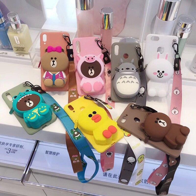3D Cartoon Totoro Geldbörse Anime Für Xiaomi Redmi 4A 4X 5 5A 6 Pro S2 5 plus Hinweis 4 6A 7 GEHEN telefon Fall Abdeckung Funda Coque Etui