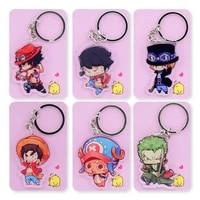 one piece double sided keychain chopper luffy key chain hot sale custom made anime key ring pcb162 173