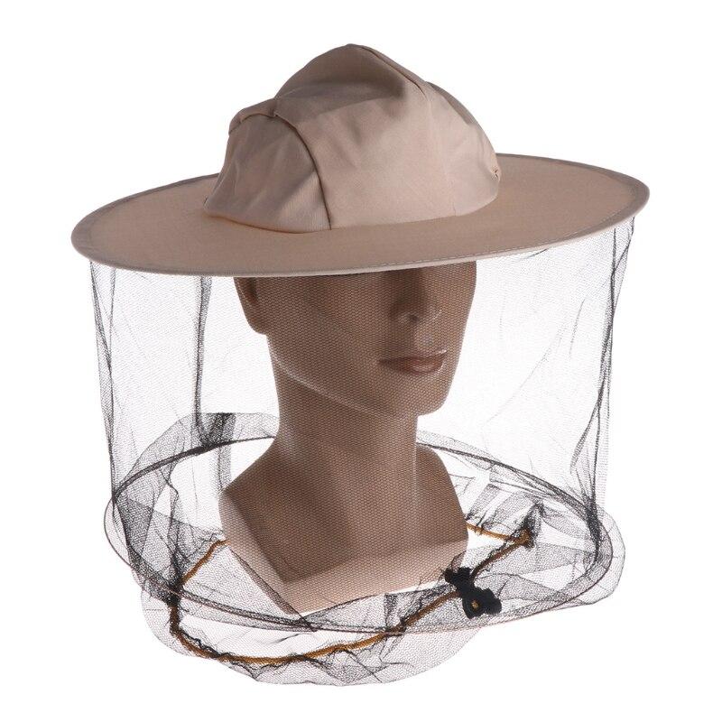 Sombrero de apicultura profesional, sombrero de vaquero, Anti Mosquito, abeja, insecto, velo, gorra de red, cara completa, Protector de cuello, talla única