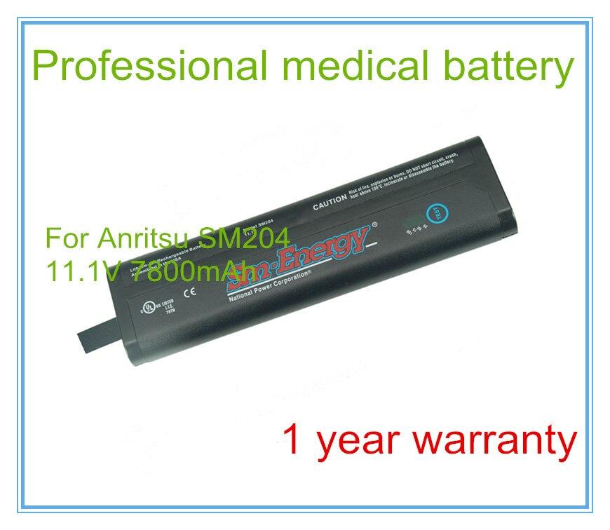 Reemplazo MTS-6000 batería OTDR Li204SX-66A de repuesto VA7100 controlador NI2040 batería