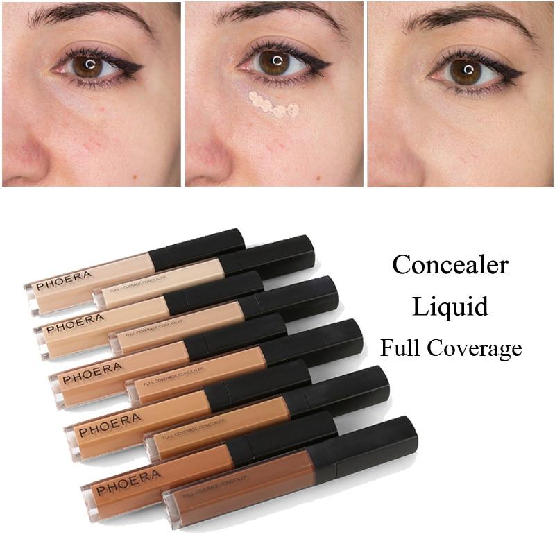 PHOERA maquillaje corrector líquido corrector crema correctora de ojos profesional conveniente nueva gran oferta pinceles de maquillaje base TSLM2