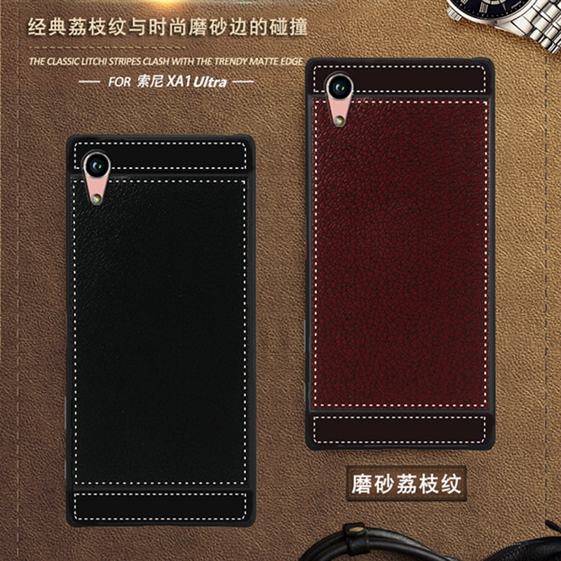 Чехол для Sony Xperia XA1 Ultra G3221 G3223, кожаный мягкий черный силиконовый чехол 6,0 для Sony Xperia XA1 Ultra Dual G3212 G3226