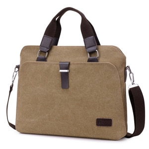 Unisex shoulder bags briefcase handbag canvas laptop bags messenger bag Vintage Casual Crossbody High capacity Female travel bag