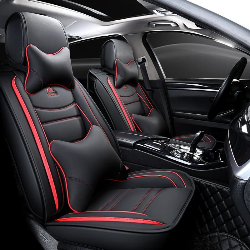 Fundas de cuero para asiento de coche Land Rover discovery 3 4 5 sport Freelander 2 accesorios de coche 3D protector de asiento de coche