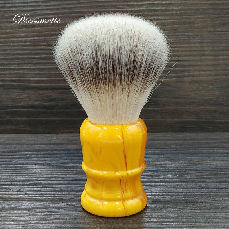 Dscosmetic-فرشاة حلاقة للرجال ، شعر صناعي ناعم 26 مللي متر ، مقبض من الراتينج العنبر ، أداة حلاقة تقليدية مبللة