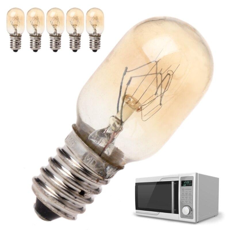MEXI Durable 5 pièces/ensemble four à micro-ondes partie ampoule remplacement 230V 20W verre lampe vis montage appareil de cuisine accessoire