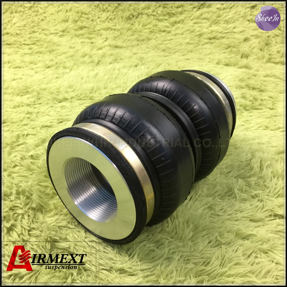 SN108160BL2-BCR/ajuste BC coilover BR hilo M46 * 1,5-M12/suspensión neumática doble de goma convoluta airspring/airbag amortiguador