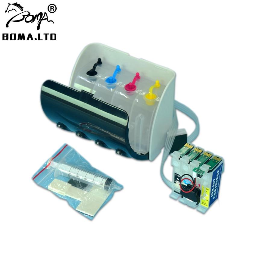 BOMA LTD T2521 - T2524 T252 252XL Ciss sistema de suministro Continuo de Tinta para Epson WF7720 WF7715 WF7710 WF7210 WF7620 WF7110 WF7610