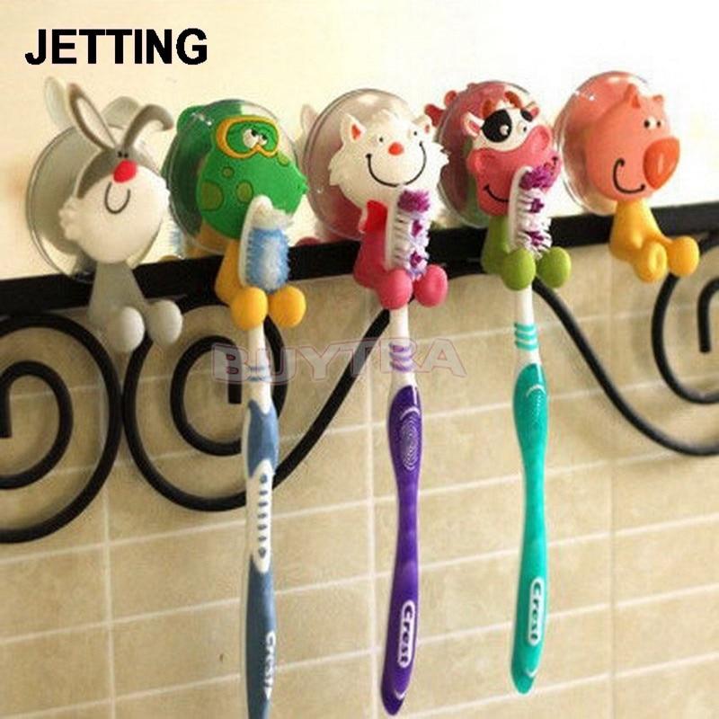Мини-держатель для зубной щетки для ванной комнаты, сантехника, аксессуары, милый бытовой держатель для зубной щетки животного типа