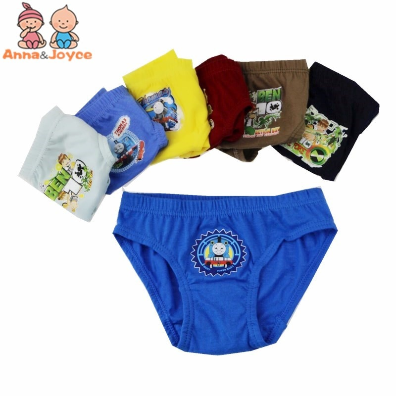 Lote de 12 unidades de calzoncillos de algodón con dibujos para niños, ropa interior para niños de 3 a 12 yardas