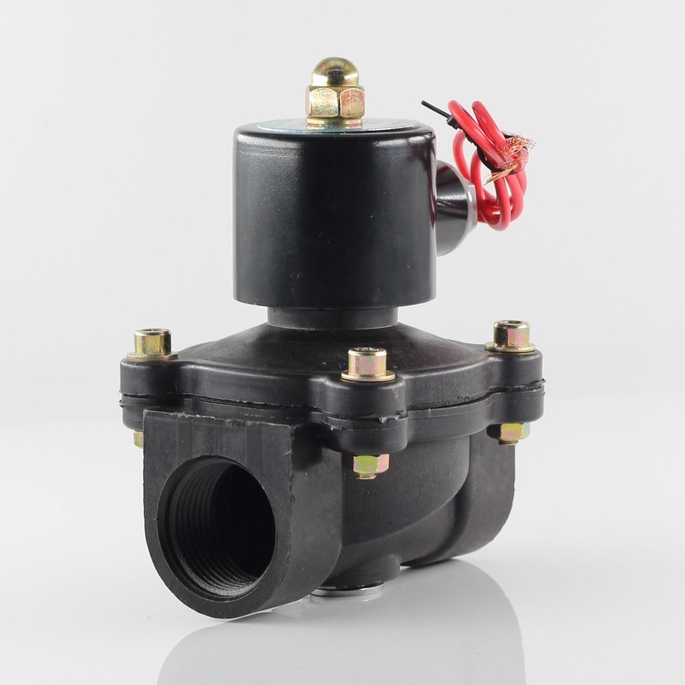 Vanne plastique normalement fermée AC/DC 380/220/12/24/36V   Électrovanne en plastique, vanne deau, vanne de commutation, résistant à la corrosion