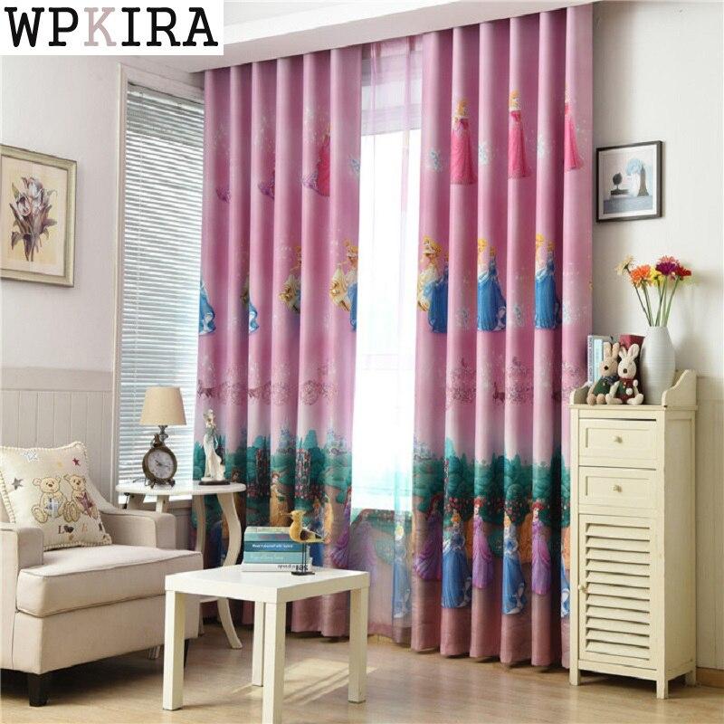 Cartoon Princess Curtains for Windows Drapes European Modern Elegant Printing Shade Curtain For Living Room Bedroom S141&30