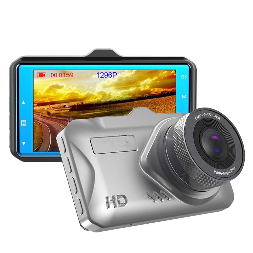 Cámara de vídeo de 3 pulgadas IPS DVR para coche, supervisión nocturna, 1296P, ADAS, Full HD, 1080P, cámara Dashcam para coche, autoregistrator de 170 grados g-senso