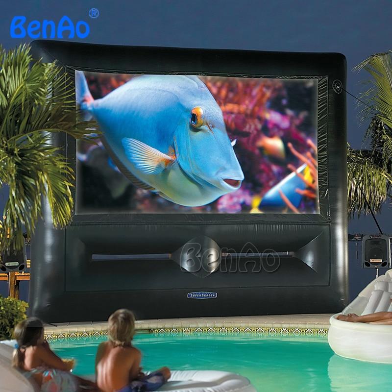 M012 darmowa wysyłka szczelne pcv nadmuchiwany ekran filmowy tanie ceny Premuim jakości z pompą powietrza nadmuchiwany kina ekran