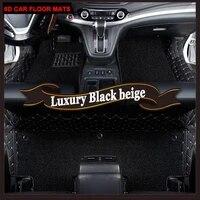 custom car floor mats case for hyundai ix25 ix35 elantra santafe sonata tucson verna veloster leather carpet liners