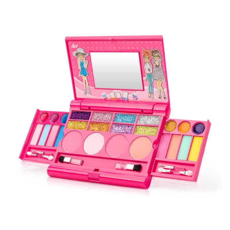 Boa Qualidade Novo Seguro Não Tóxico Crianças Menina Princesa Caixa de Kit Conjunto de Maquiagem Sombra Paleta Batom Pretend Play Toy