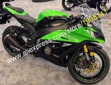 Para Kawasaki Ninja ZX10R 11 12 13 14 15 ZX 10R ZX-10R 2011-2015 Verde Negro moto ABS carenados (moldeo por inyección)