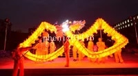 10m 6 adult yellow illuminant dragon dance silk folk festival party shool sport costume 6 adult to play loong costume