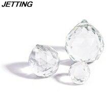 Klar 20/30/40mm Facettiertes Glas Kristall Ball Prism Kronleuchter Kristall Teile Hängenden Pendelleuchte Ball Suncatcher Wohnkultur