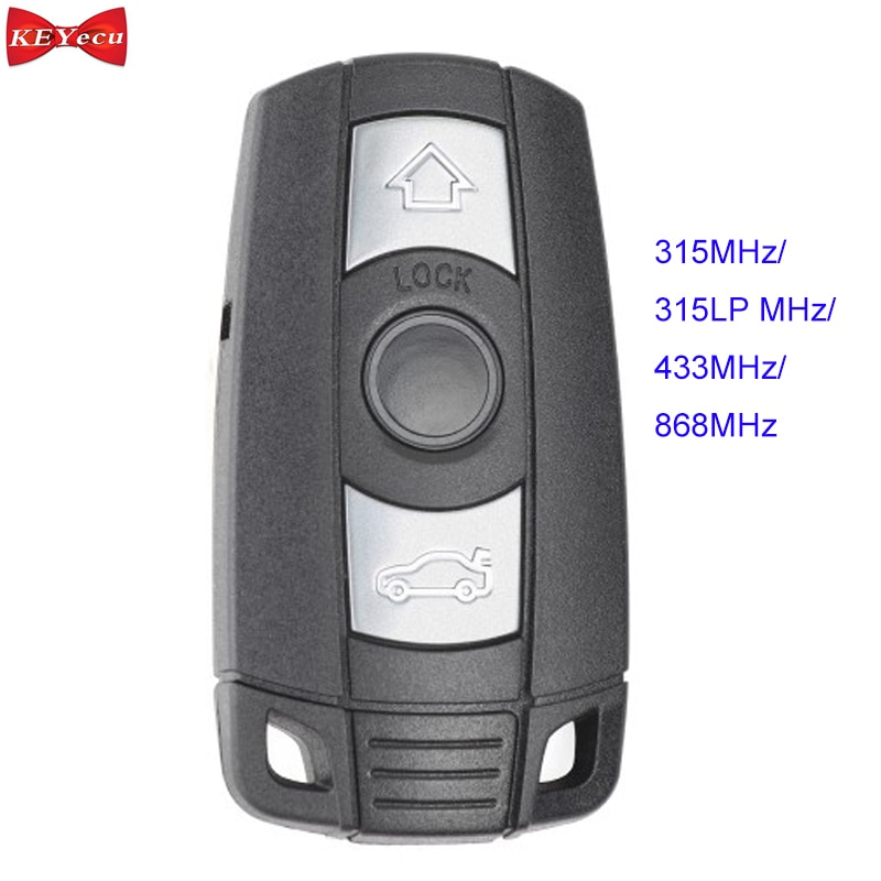 Llave remota inteligente KEYECU 3 botones 315 MHz/433 MHz/868 MHz/315LP PCF7953 para BMW CAS3 3 + 1 3 5 7 Series X5 X6 Z4 (KYDZ)