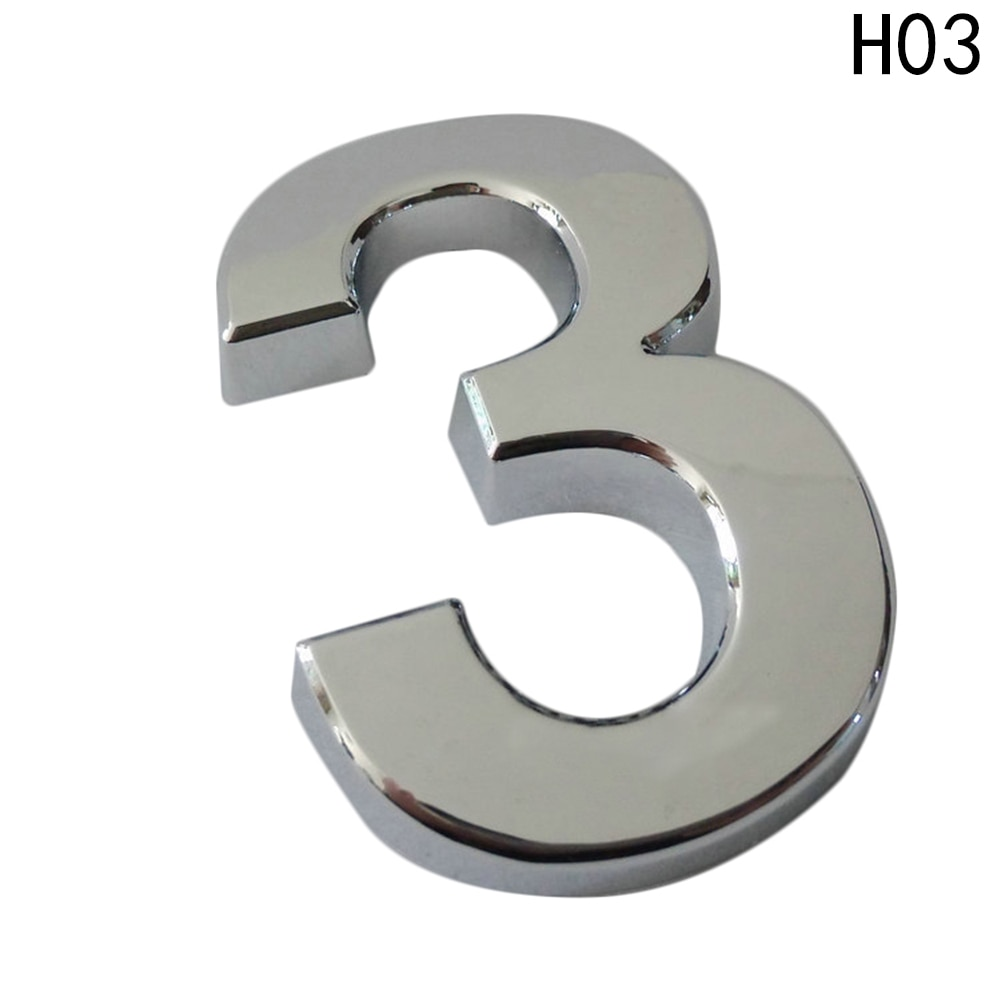 Novo 5cm casa número de endereço dígitos numeral placa placa sinal sala portão crachá etiqueta com adesivo auto-adesivo