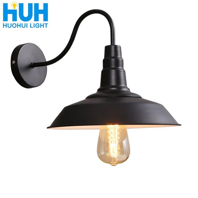 Винтажный настенный светильник светодиодный светильник E27 Эдисон светильник Лофт ретро железная краска Американский старый стиль Простот...