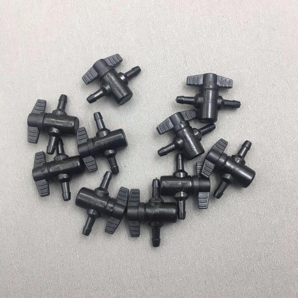 Válvula de tinta de 2 vías de plástico de 8 uds, dos formas para impresora UV Flora Xuli Roland aifa, interruptor de tubo de tinta CISS, válvula manual de sistema de tinta 4*3mm