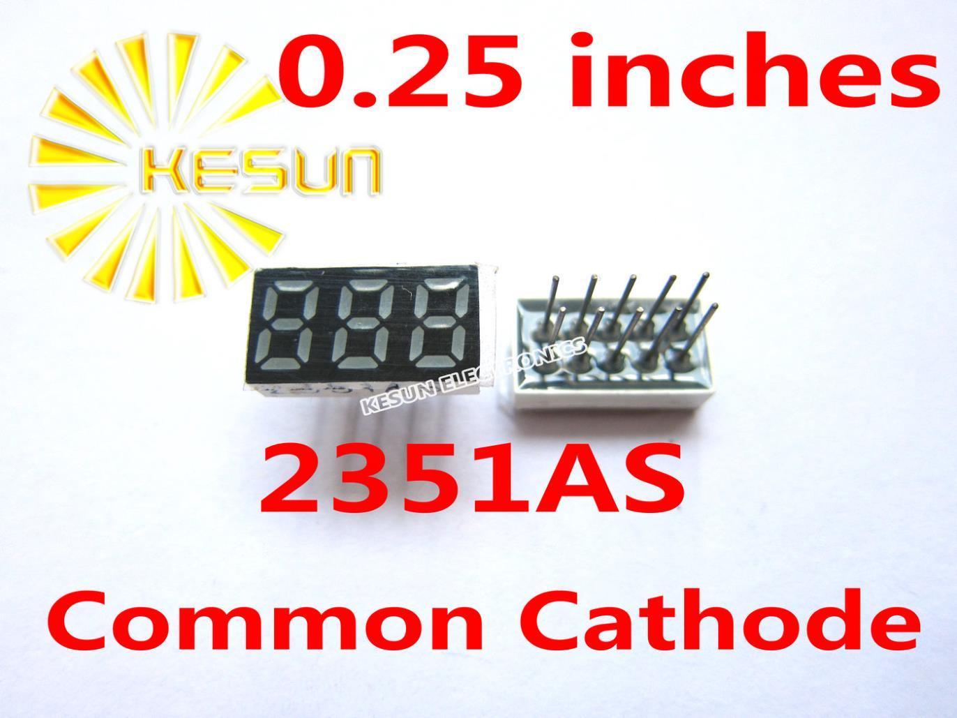 10 шт. x 0,25 дюйма Красный общий катод/анод 3 цифровая трубка 2351AS 2351BS светодиодный дисплей модуль