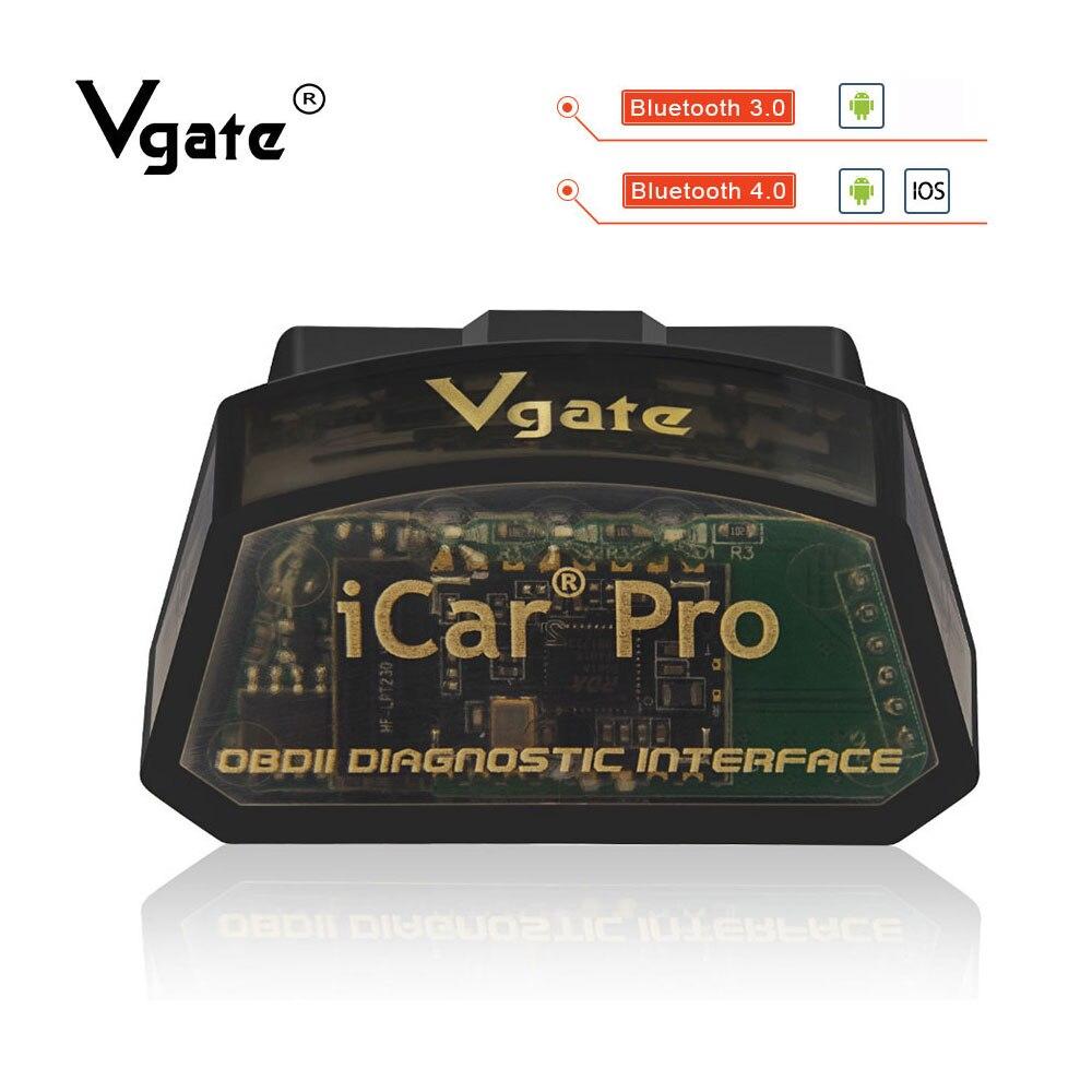 Vgate icar pro OBD2 ELM327 Bluetooth coche diagnóstico OBD OBD2 escáner elm 327 OBDII lector de código odb2 adaptador de diagnóstico caliente venta