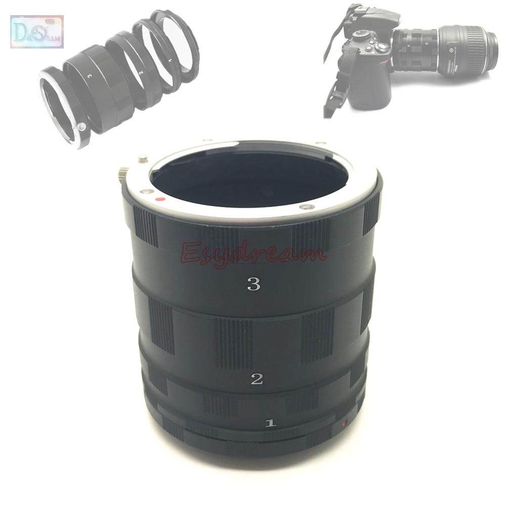 Tubo de extensión Macro 3 anillos para Sony Alpha Minolta MA AF...