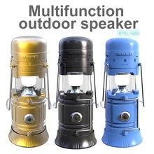 Haut-parleur sans fil extérieur Charge solaire Sports haut-parleur Portable Bluetooth comprend une lampe de poche à batterie externe et FM mains libres