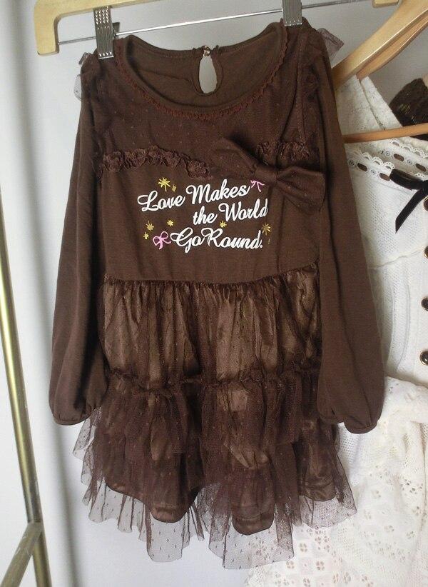 Japan liz lisa lace mesh embroidery printing dresses (pretty girl)