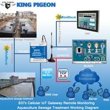 Pasarela de IoT celular King Pigeon para Monitor remoto solución de tratamiento de aguas residuales Industrial compatible con pantalla de plataforma de nube