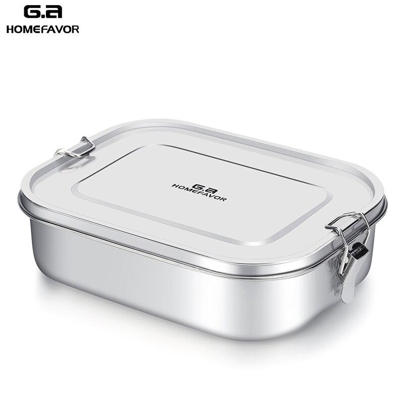 Caja de almuerzo personalizada de G.a HOMEFAVOR para niños, contenedor de comida Bento Box 304, caja térmica de Metal de acero inoxidable de calidad superior
