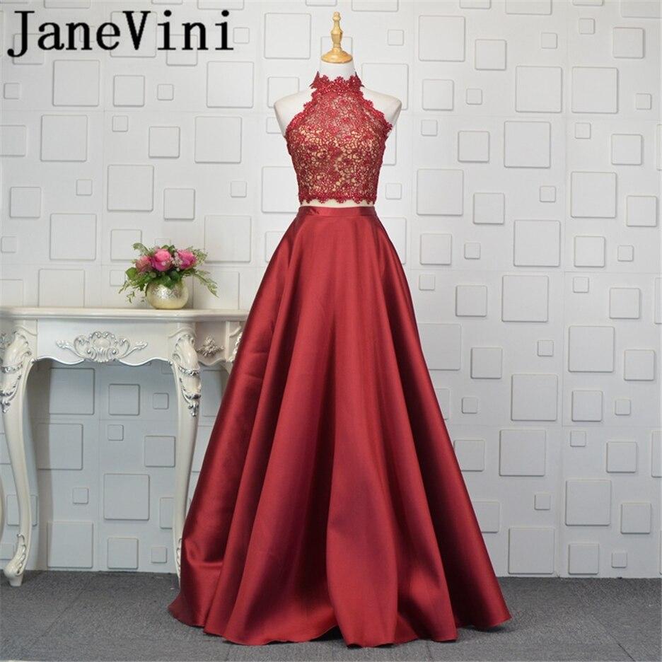 JaneVini-Vestidos de dos piezas con cuentas Burdeos para madre de la novia,...