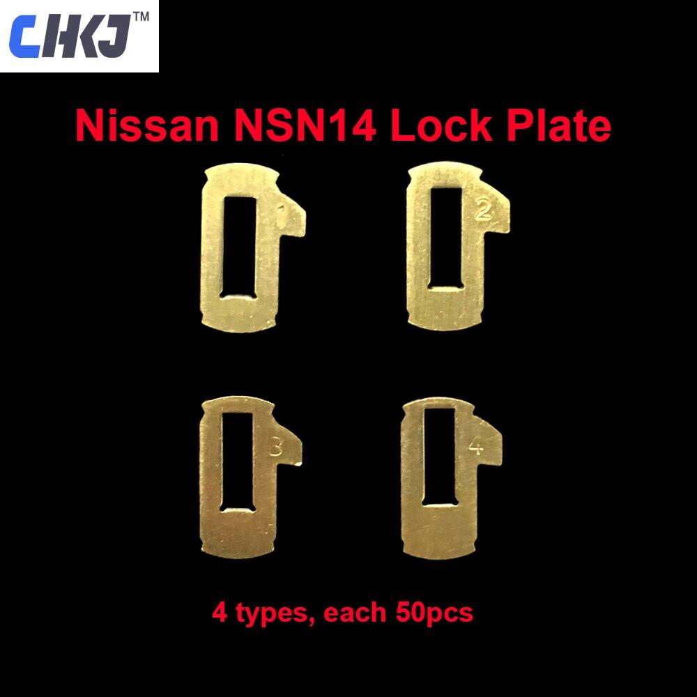 CHKJ 200 stücke/lot NSN14 Auto Lock Reed Platte Für Nissan Auto Türschloss Reparatur Kits Messing Material 4 modelle Jeder 50 stücke mit Frühling