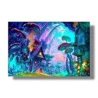Affiche psychedelique coloree Ttrippy   47x31 5   120x80cm   Ttrippy Surreal abstrait Art numerique Astral  decoration murale pour salle de maison