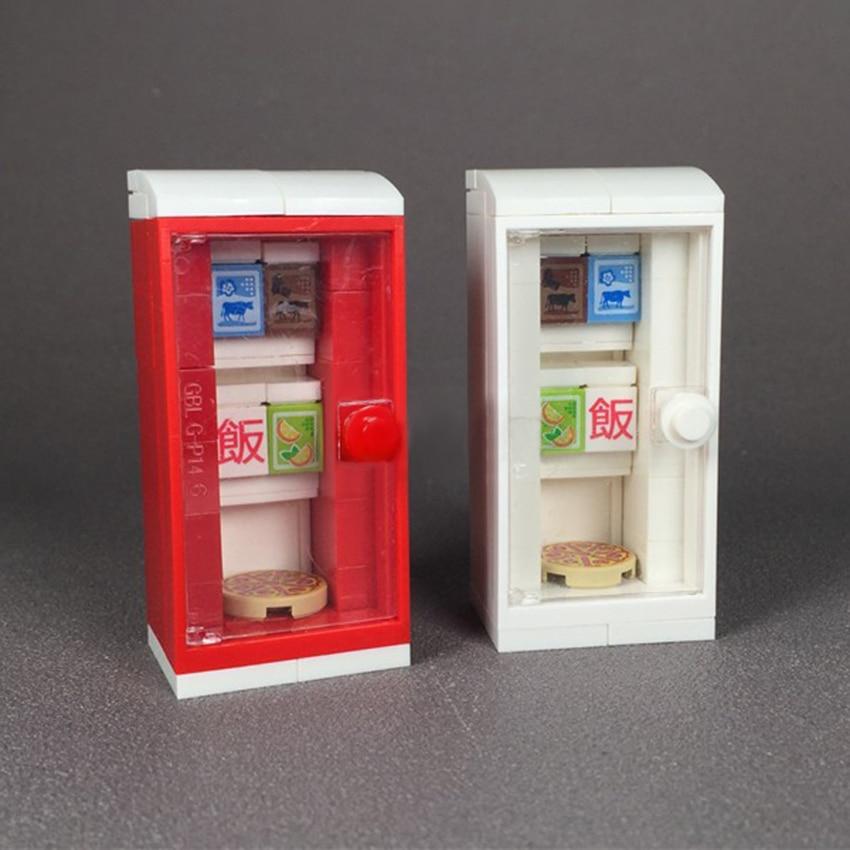 Toys City Home MOC Accessories Kitchen Style Refrigerator Freezer Building Blocks Book Model Bricks DIY Kits Toys For Children