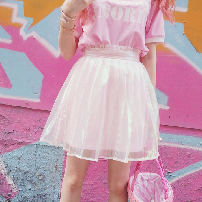 Princesa lolita doce saia cor intriga BOBON21 kilt plissado, império lace-cintura pure color saia cosplay B1489