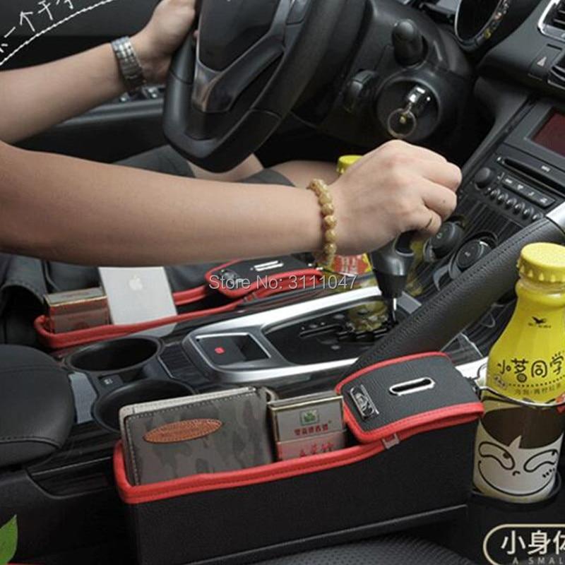1PC Car Styling Seat Crevice Storage Box Holder Organizer for vw golf 6 audi a1 ford focus 2 audi a5 suzuki swift toyota chr